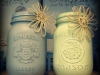 Milk-Painted Mason Jars